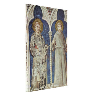 Simone Martini - St Anthony and St Francis Stretched Canvas Prints