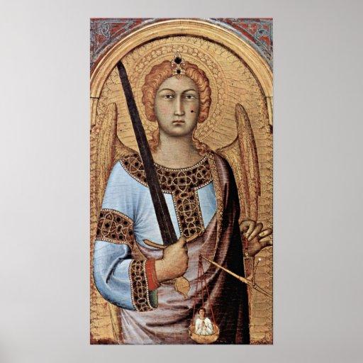 Simone Martini - St Michael Poster
