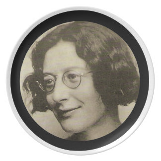 Simone Weil Melamine Plate