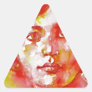 simone weil - watercolor portrait.1 triangle sticker