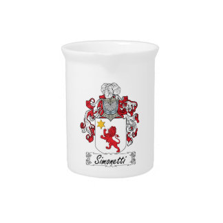 Simonetti Family Crest Drink Pitcher