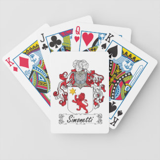 Simonetti Family Crest Bicycle Card Deck