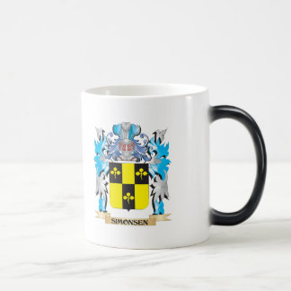 Simonsen Coat of Arms - Family Crest 11 Oz Magic Heat Color-Changing Coffee Mug