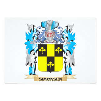 Simonsen Coat of Arms - Family Crest 5x7 Paper Invitation Card