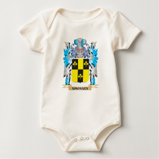 Simonsen Coat of Arms - Family Crest Baby Creeper