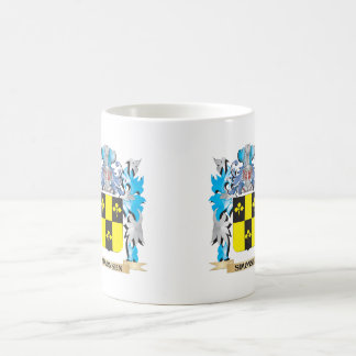 Simonsen Coat of Arms - Family Crest Classic White Coffee Mug