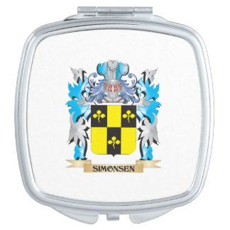 Simonsen Coat of Arms - Family Crest Mirror For Makeup