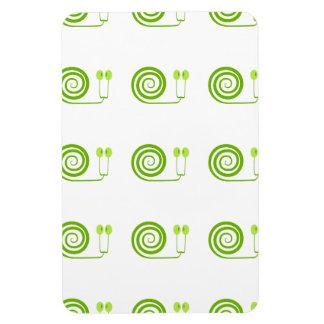 Simpático caracol de espiral verde Cara de Col Iman Rectangular