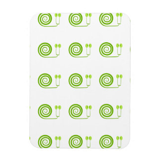 Simpático caracol de espiral verde Cara de Col Imán
