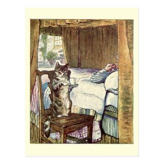 Simpkin el gato sirve el té - Beatrix Potter Tarjetas Postales