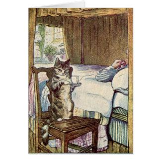 Simpkin the Cat Serves Tea - Beatrix Potter Card