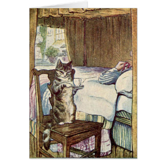 Simpkin the Cat Serves Tea - Beatrix Potter Cards