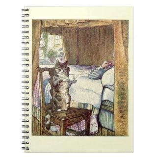 Simpkin the Cat Serves Tea - Beatrix Potter Notebook