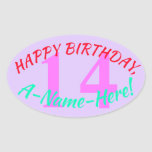 [ Thumbnail: Simple 14th Birthday Sticker ]