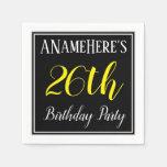 [ Thumbnail: Simple, 26th Birthday Party W/ Custom Name Napkin ]