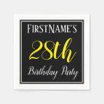[ Thumbnail: Simple, 28th Birthday Party W/ Custom Name Napkin ]