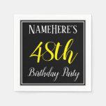 [ Thumbnail: Simple, 48th Birthday Party W/ Custom Name Napkin ]