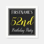 [ Thumbnail: Simple, 52nd Birthday Party W/ Custom Name Napkin ]