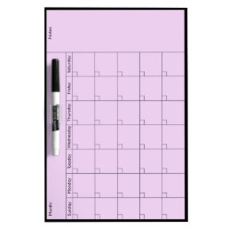 Simple 5W Calendar Med - Personalize Dry-Erase Board