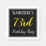 [ Thumbnail: Simple, 73rd Birthday Party W/ Custom Name Napkin ]
