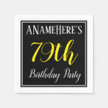 [ Thumbnail: Simple, 79th Birthday Party W/ Custom Name Napkin ]