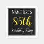 [ Thumbnail: Simple, 85th Birthday Party W/ Custom Name Napkin ]