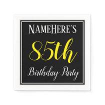 Simple, 85th Birthday Party w/ Custom Name Napkin