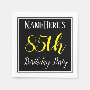 Simple 85th Birthday Party W Custom Name Napkin