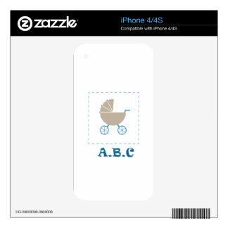 simple a b c decal for the iPhone 4S