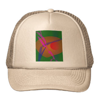 Simple Abstract Composition Green Trucker Hat