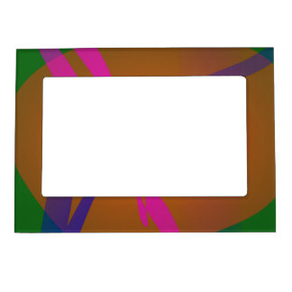 Simple Abstract Composition Green Picture Frame Magnet