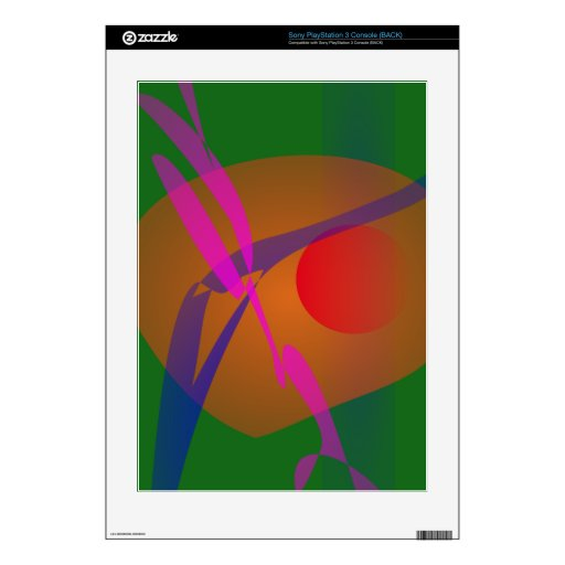Simple Abstract Composition Green PS3 Console Decal