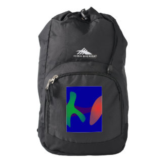 Simple Abstract Irregular Forms Backpack