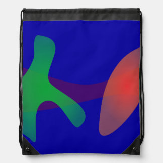 Simple Abstract Irregular Forms Backpacks