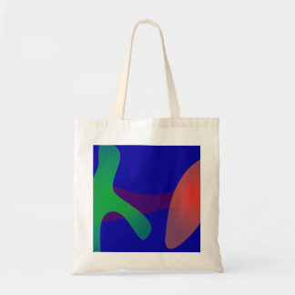 Simple Abstract Irregular Forms Budget Tote Bag