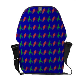 Simple Abstract Irregular Forms Courier Bags