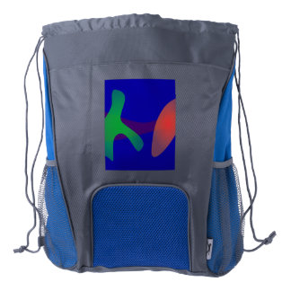 Simple Abstract Irregular Forms Drawstring Backpack