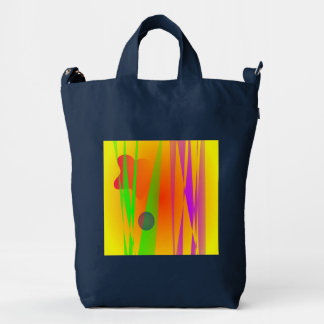 Simple Abstract Irregular Forms Duck Canvas Bag