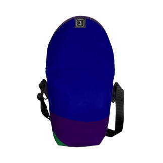 Simple Abstract Irregular Forms Messenger Bag