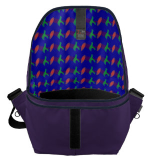 Simple Abstract Irregular Forms Messenger Bags