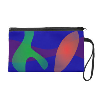 Simple Abstract Irregular Forms Wristlet