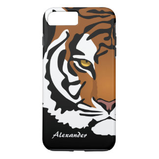 Simple Abstract Tiger Portrait iPhone 7 Plus Case