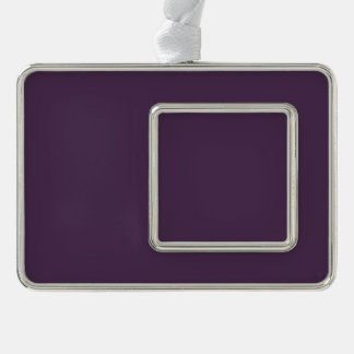 Simple Acai Violet Fashion Trends Solid Color Silver Plated Framed Ornament