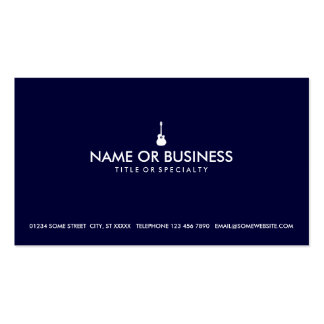 simple acoustic guitar business card