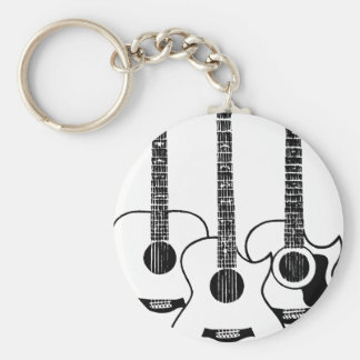 simple acoustic guitars keychain