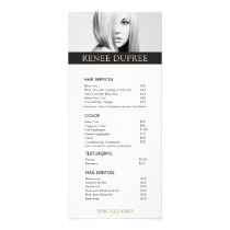 Simple Add Your Own Image  Salon Price List Menu
