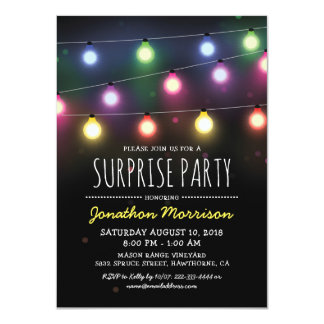 Simple Adult Unisex Surprise Birthday Party Card