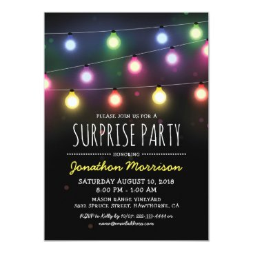 special_stationery Simple Adult Unisex Surprise Birthday Party Card