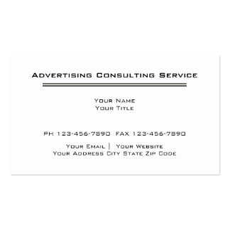 Simple Advertising Business Cards