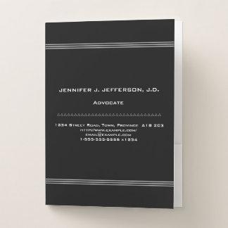 Simple Advocate Pocket Folder